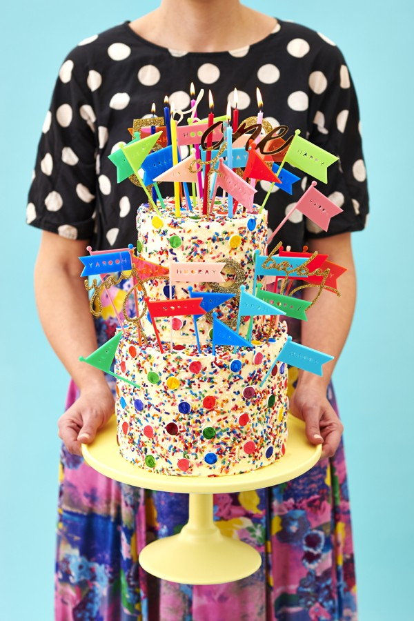 fiesta infantil estallido de colores tarta