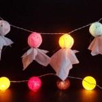 Guirnalda de fantasmas luminosos
