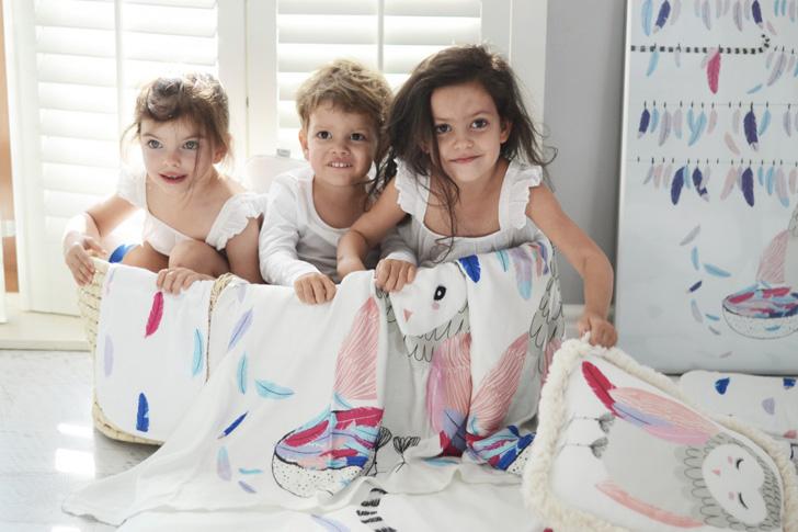 Alegres textiles infantiles de Maki Mon Ami