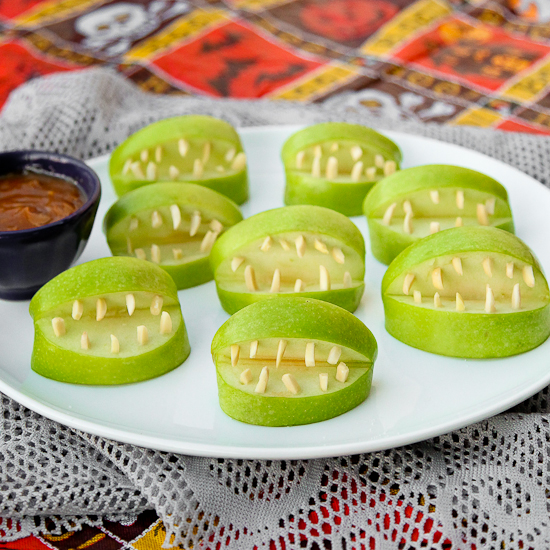 manzanas miedo halloween receta