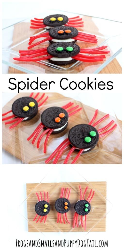 spider cookies halloween niños