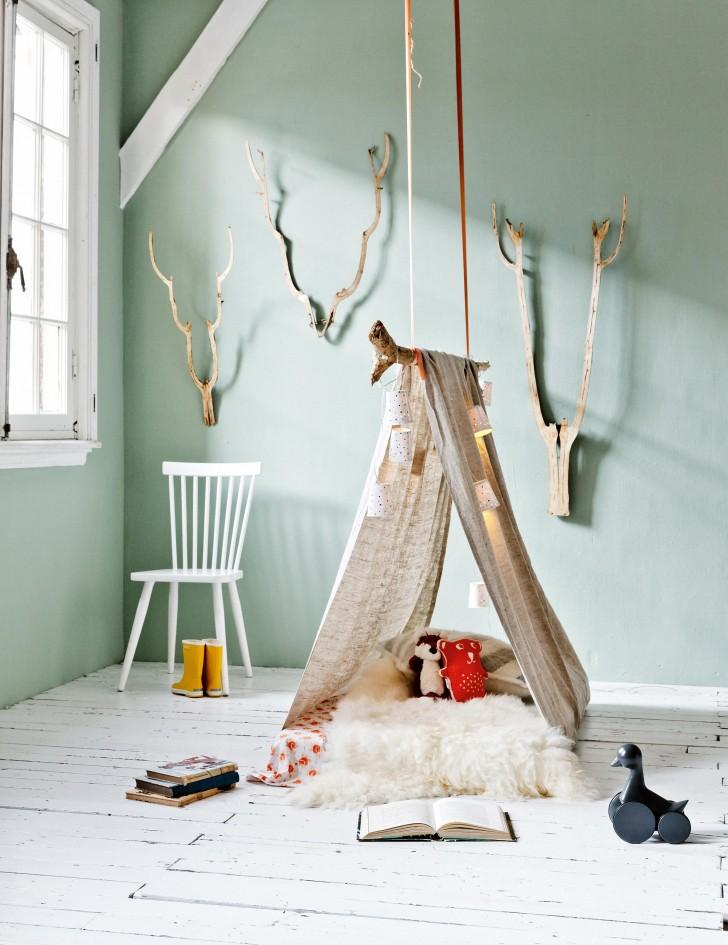14 ideas de decoraci n infantil con palos ramas y troncos naturales decopeques. Black Bedroom Furniture Sets. Home Design Ideas