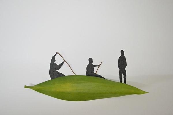 arte-con-hojas-diy-barca