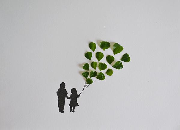 arte-con-hojas-diy-globos