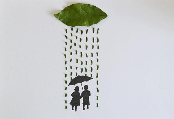 arte-con-hojas-diy-lluvia