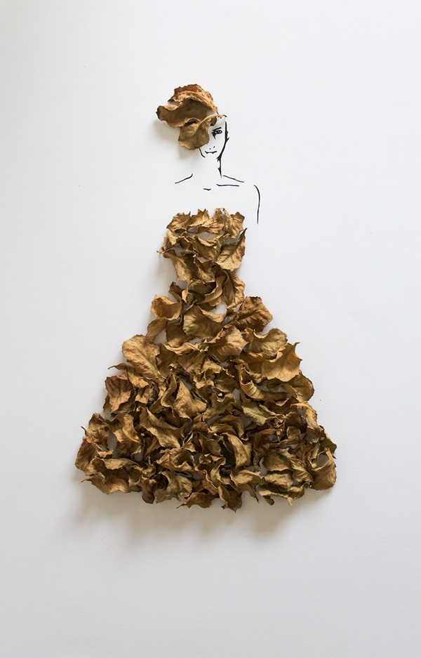 arte-con-hojas-diy-vestido