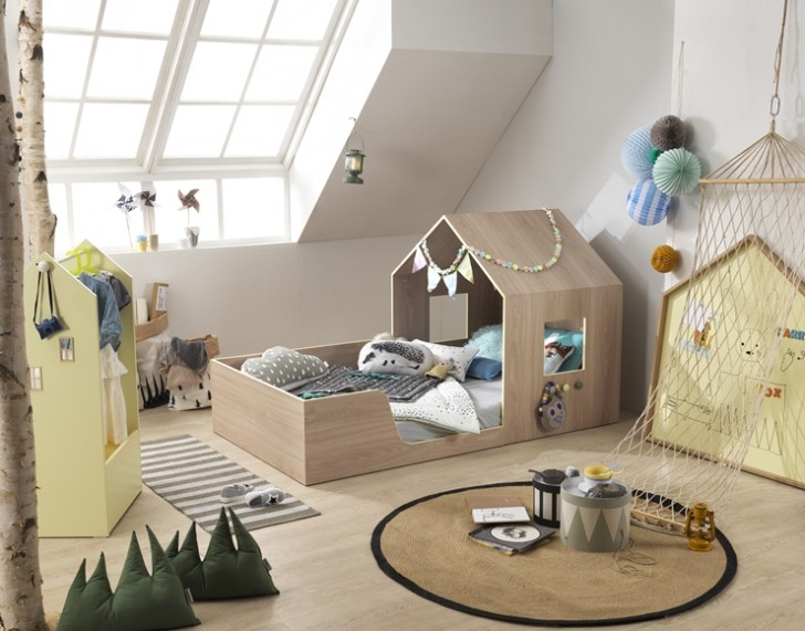 Habitaciones muy bonitas para ni os peque os decopeques for Camas en forma de casa