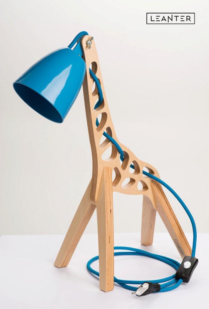 lampara-infantil-jirafa-azul