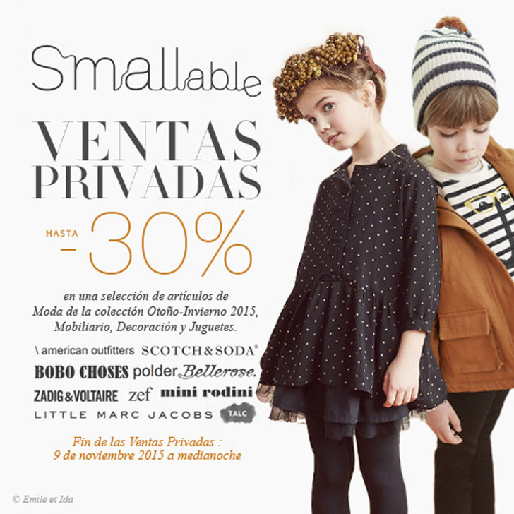 La esperada Venta privada en Smallable y nuevo catálogo para Navidad
