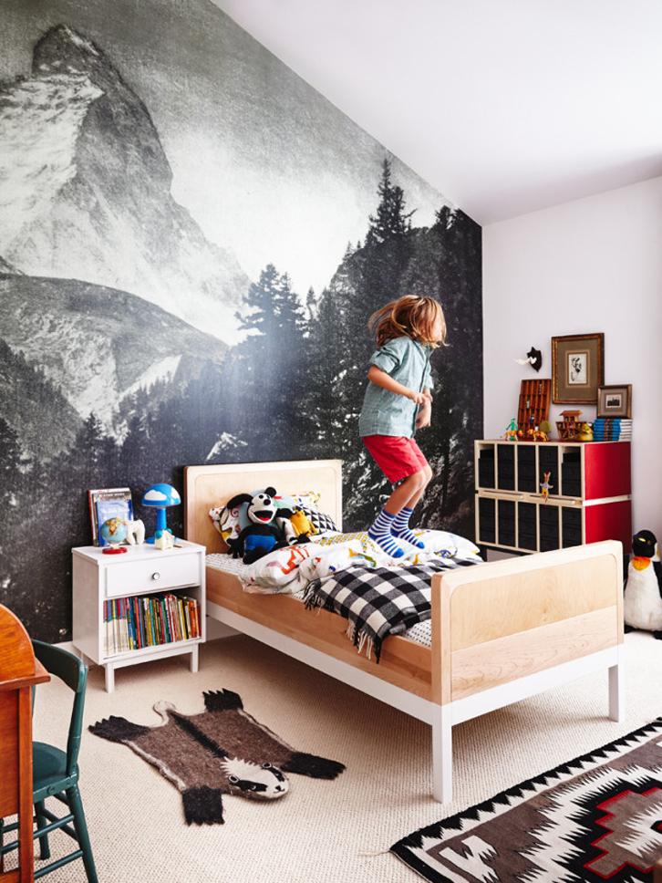 Habitación infantil ecléctica y original