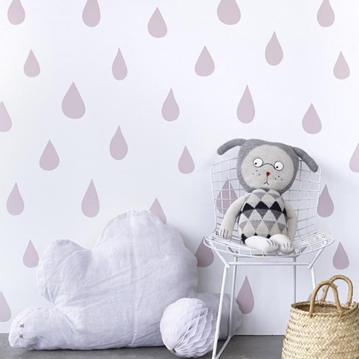 Papel pintado infantil de gotas decopeques - Papeles pintados bebe ...