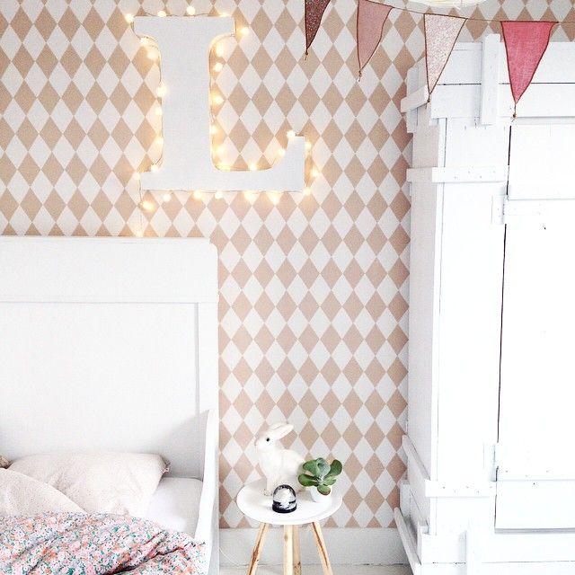 Antes y despu s papel pintado en la habitaci n infantil for Papel pintado para dormitorio juvenil