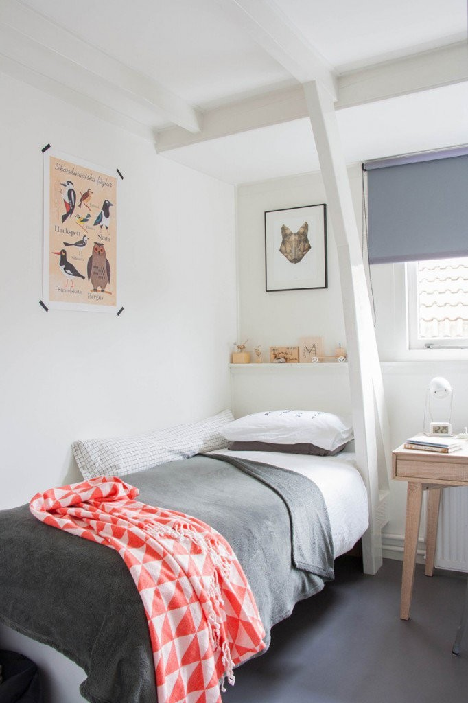 Habitaciones juveniles en gris decopeques for Decoracion habitacion juvenil nino