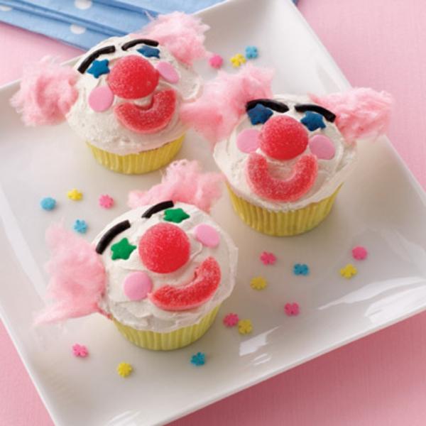 Cupcakes fáciles inspirados en el circo