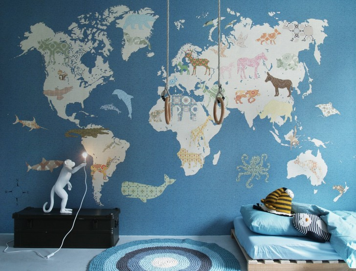 mapamundi-animales-mural-infantil