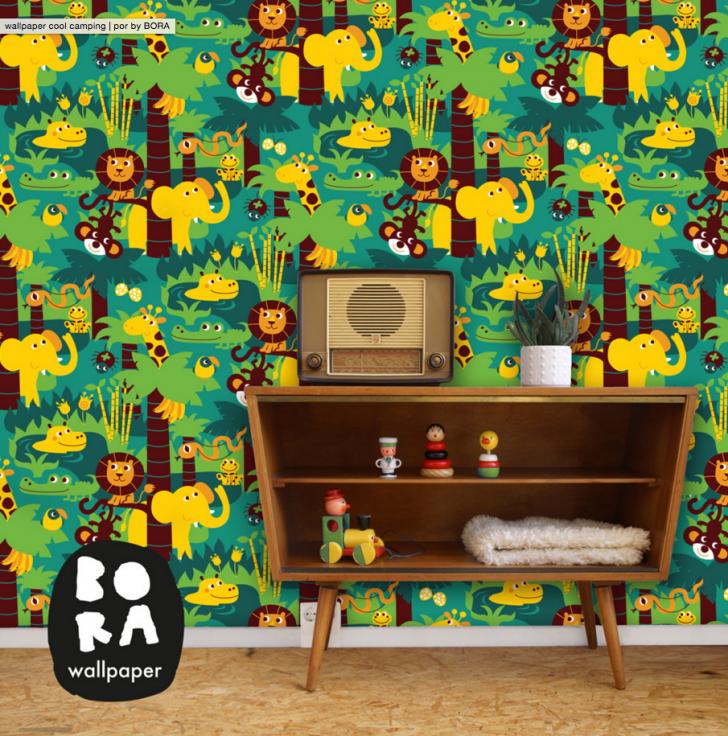 papel-pintado-infantil-selva-elefantes