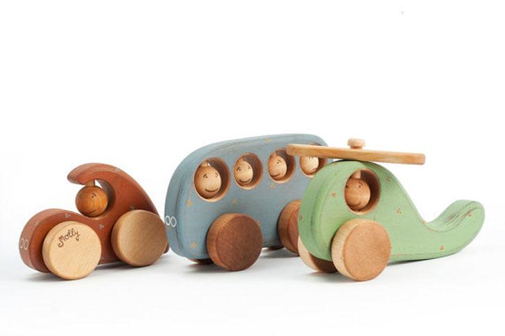 Juguetes de madera artesanales