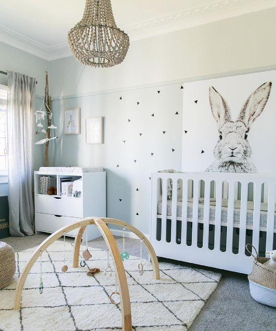 8 conejitos en la habitaci n del beb por todas partes - Alfombra habitacion bebe ...