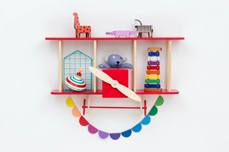estanteria-avion-rojo-madera