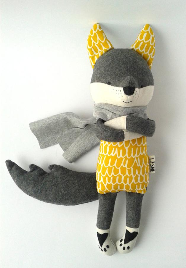 muñecos-suaves-lobo-amarillo