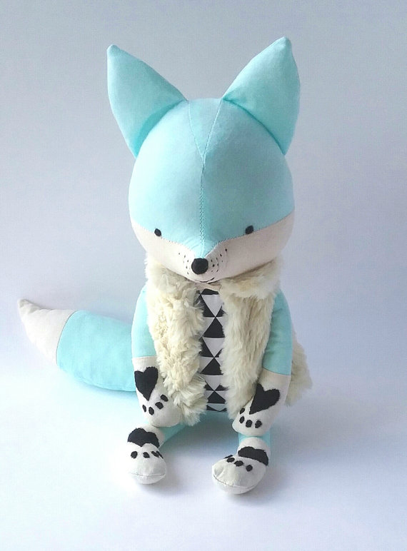 muñecos-suaves-zorro-azul