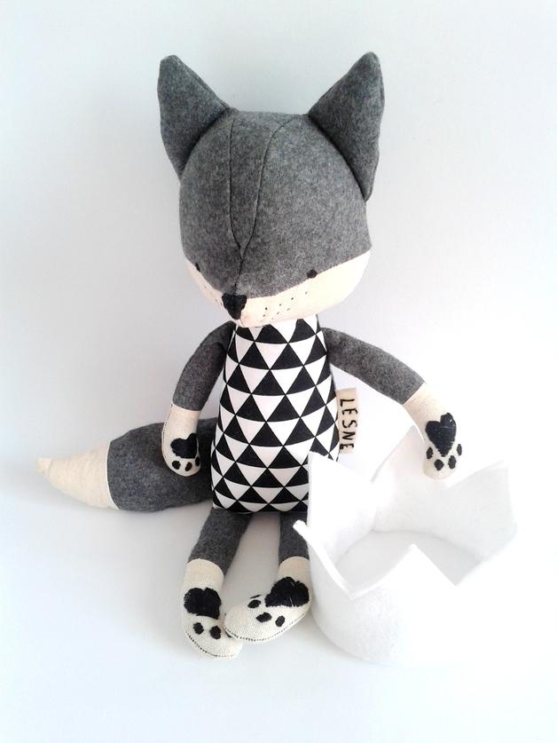 muñecos-suaves-zorro-gris