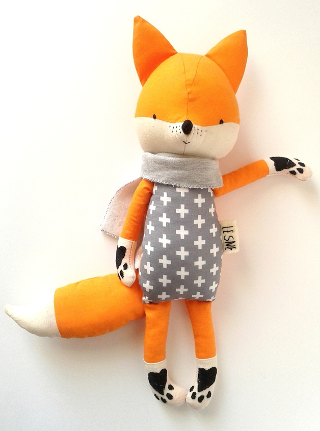 muñecos-suaves-zorro-naranja