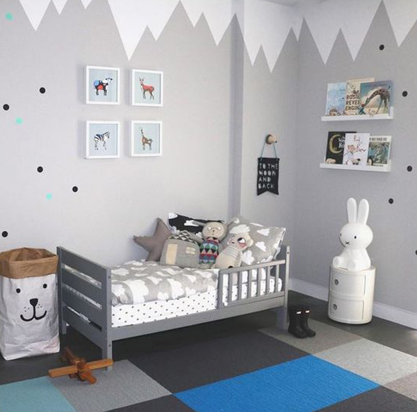 Habitaciones infantiles en gris alerta tendencia - Decorar cuarto infantil ...