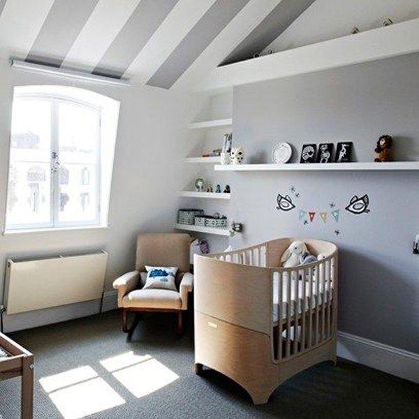 Habitaciones infantiles en gris alerta tendencia - Habitaciones pintadas con rayas ...