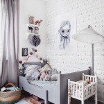 Habitación infantil vintage en tonos grises