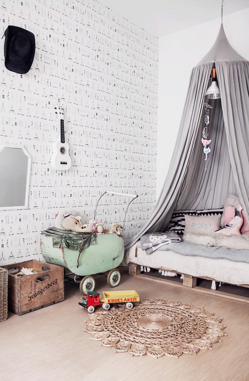 habitacion-infantil-vintage-en-gris