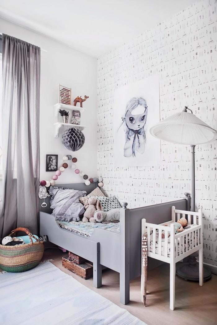 Habitaci n infantil vintage en tonos grises decopeques for Habitacion bebe gris