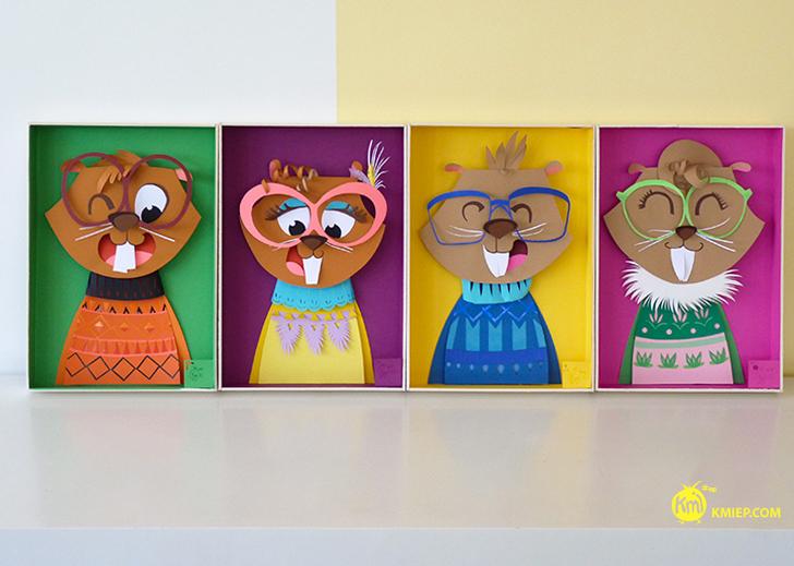 arte-con-papel-caras-castores