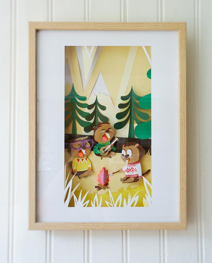 Arte infantil con papel, ¡Divertidas escenas y retratos!
