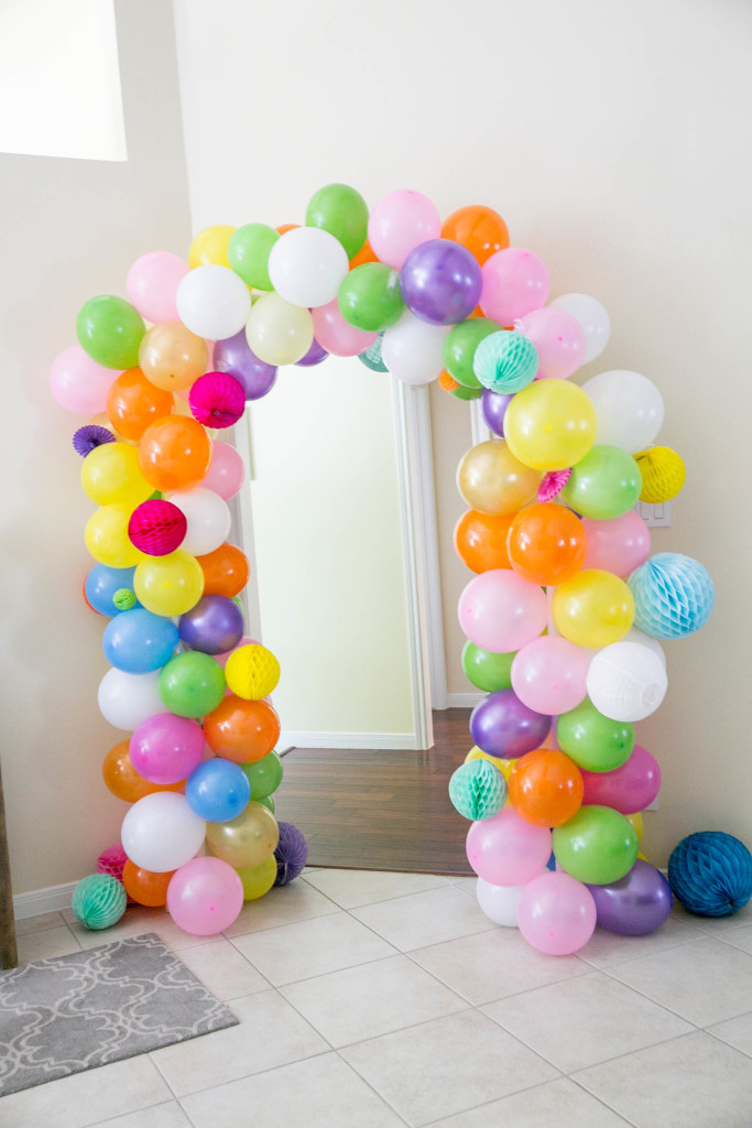 Decoracion fiestas con globos simple globos ideas with for Decoracion simple con globos