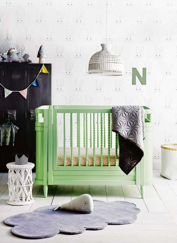 habitacion-bebe-cuna-verde