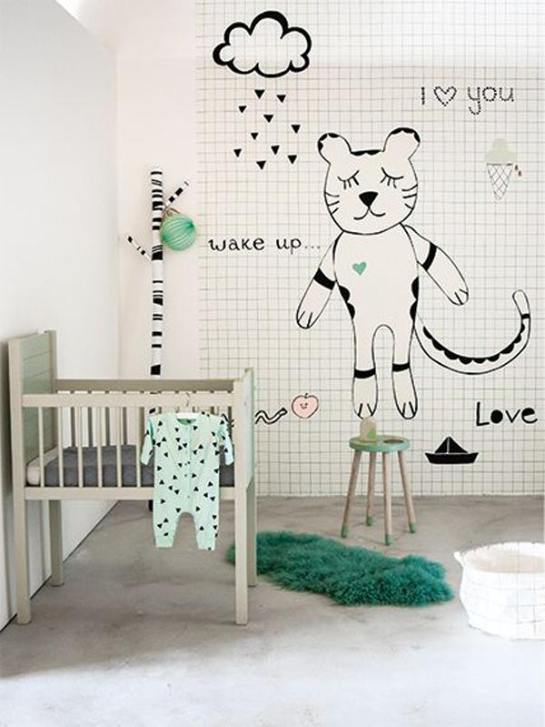 habitacion-bebe-pinceladas-verde