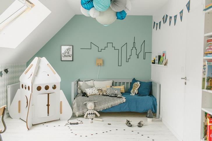 Habitación en azul para niños