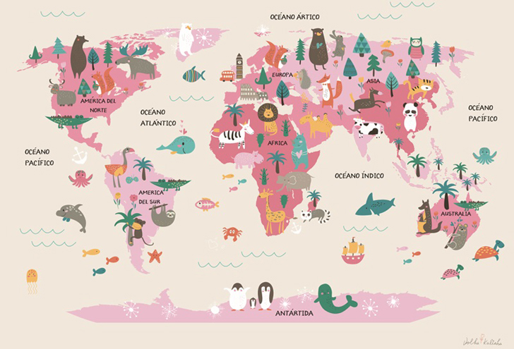 lamina-infantil-mapamundi-rosa