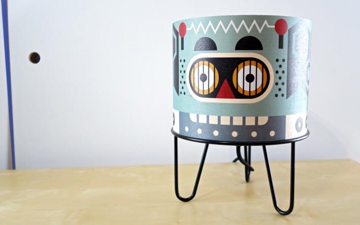 lampara-infantil-diseño-robot