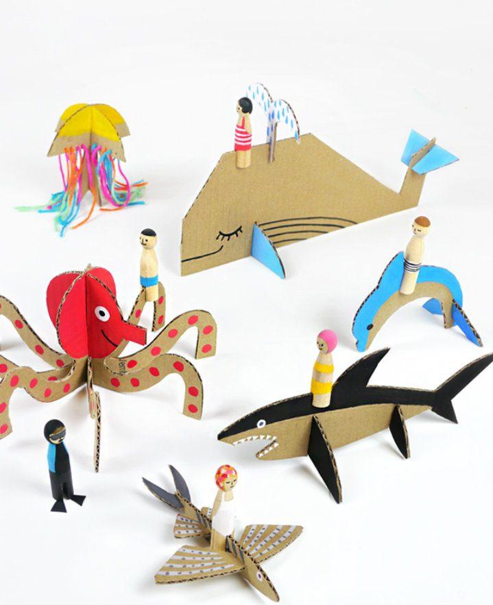 7 manualidades infantiles inspiradas en el mar decopeques - Manualidades decoracion infantil ...