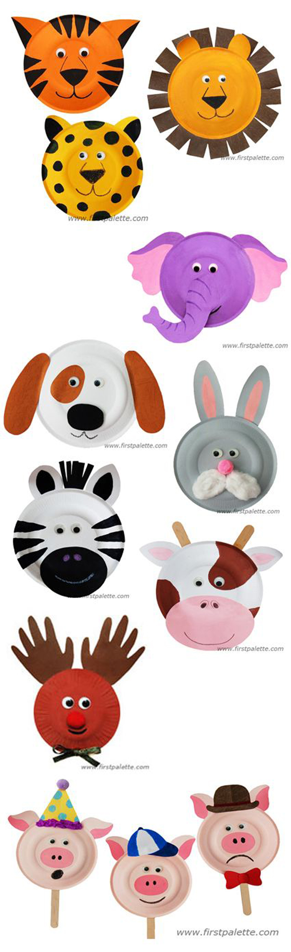 manualidades-infantiles-platos-caras-animales