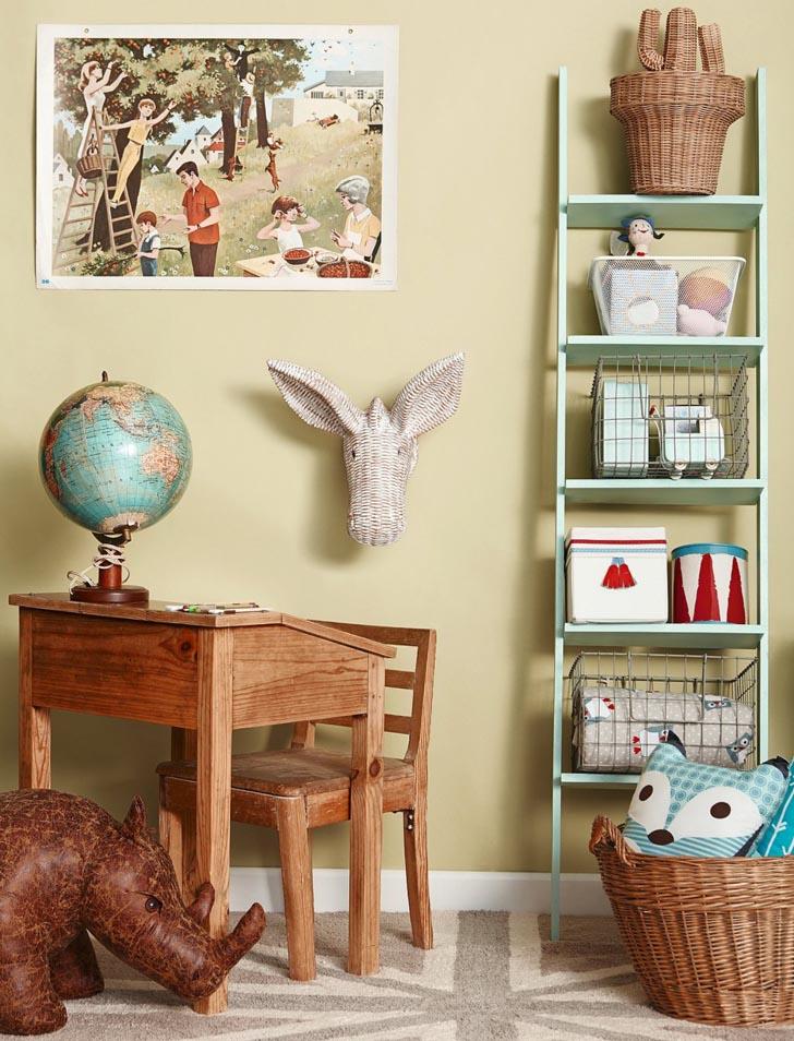organizar-habitacion-infantil-cestas-vintage