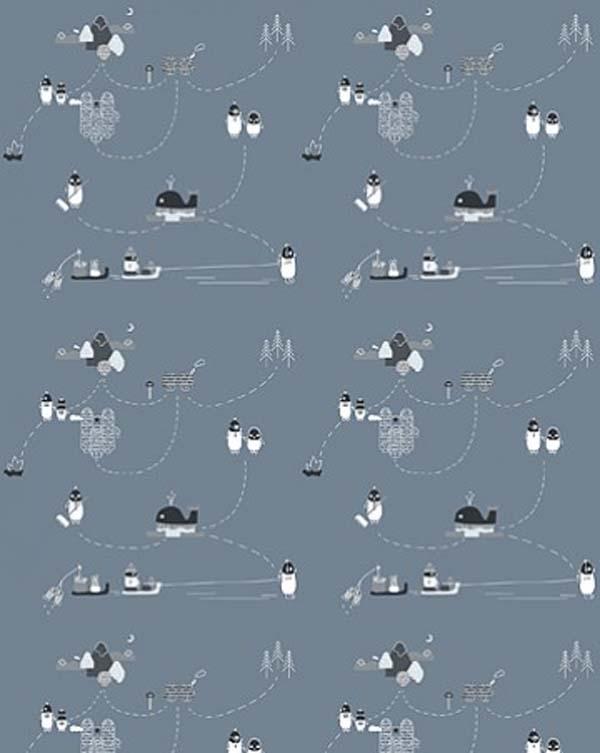 papel-pintado-infantil-pinguinos