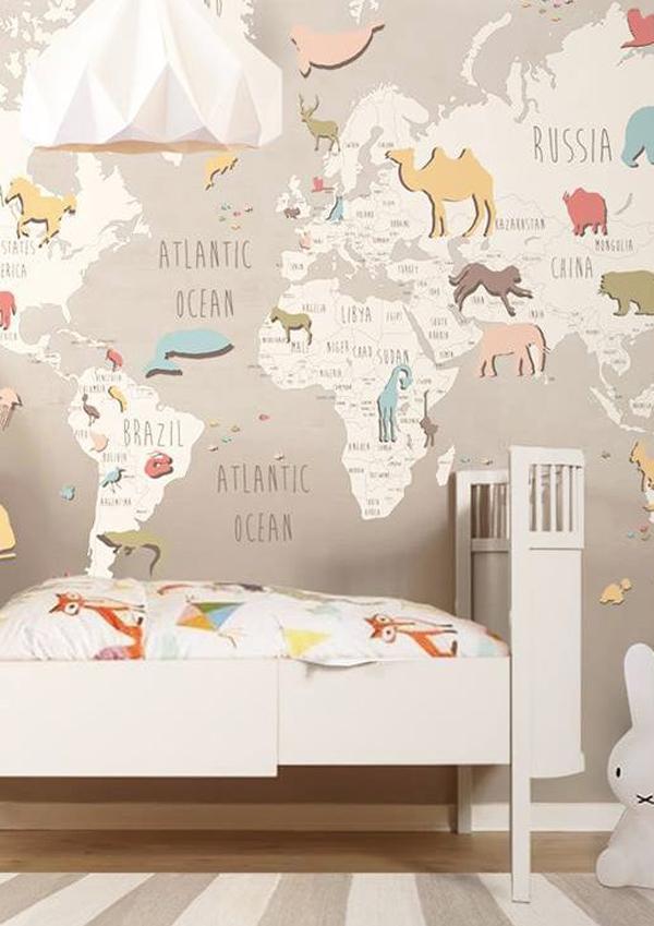 Infantiles con papel pintado trendy disney fantasy for Papel pintado infantil