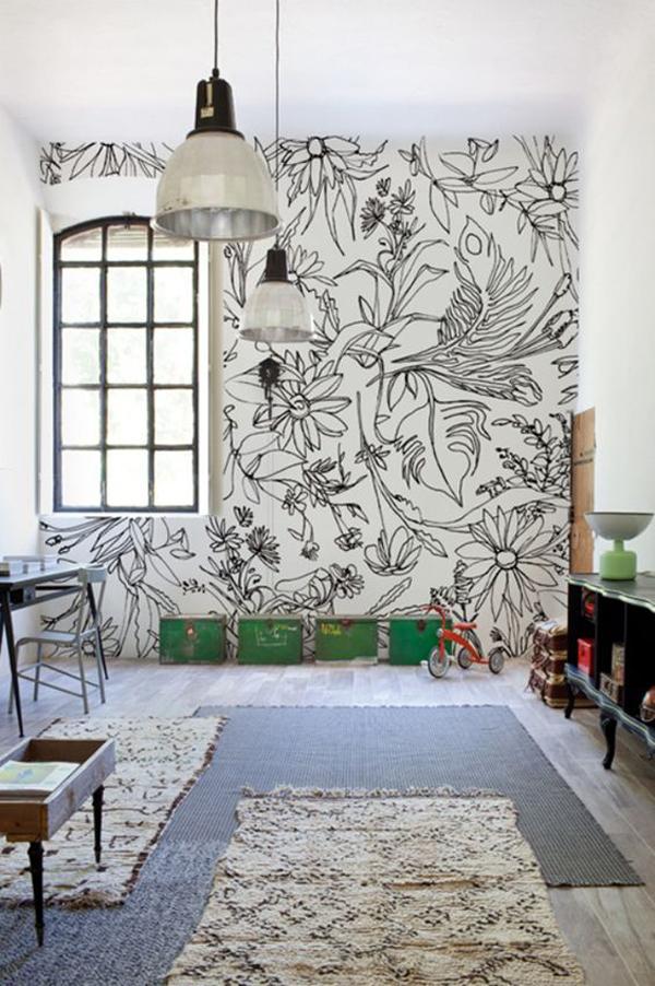 6 ideas para pintar el cuarto infantil decopeques for Mural para habitacion