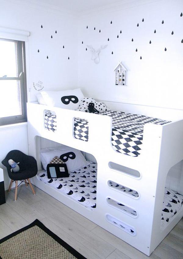 habitacion-infantil-compartida-blanco-y-negro