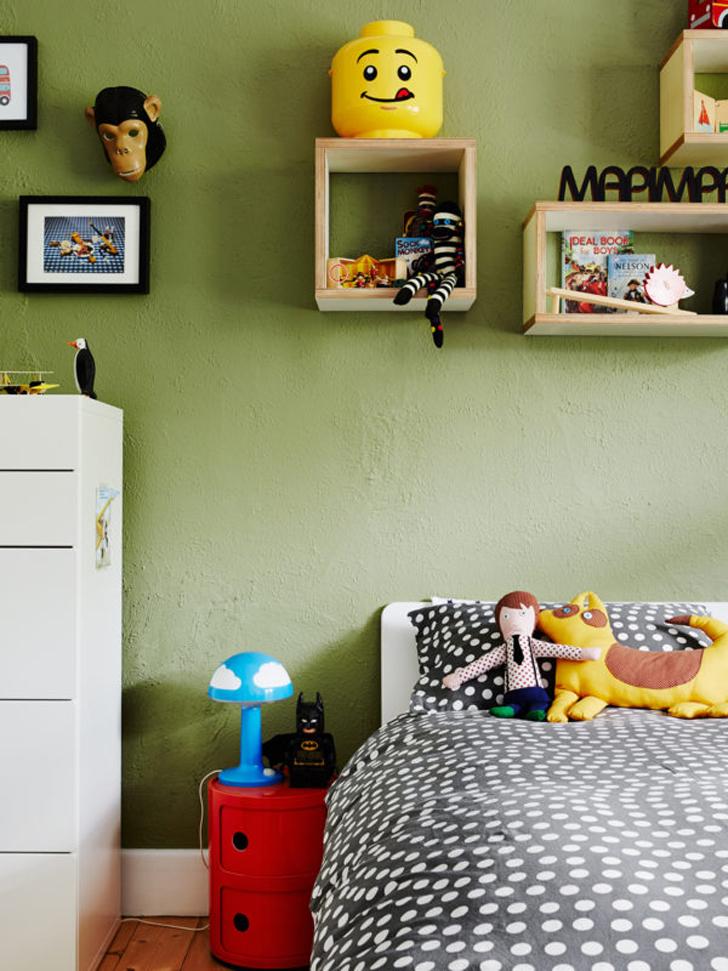 habitacion-infantil-de-color-verde