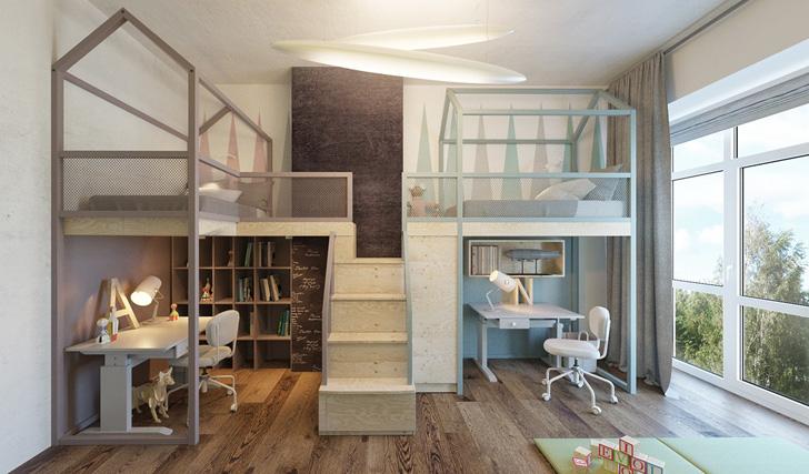 habitacion-infantil-de-diseño-literas-casa