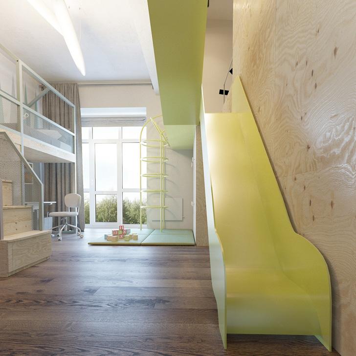 habitacion-infantil-de-diseño-tobogan